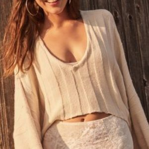 Urban Outfitters Ribbed Cropped Sweater